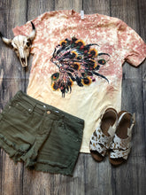 Floral and Feathers Tee