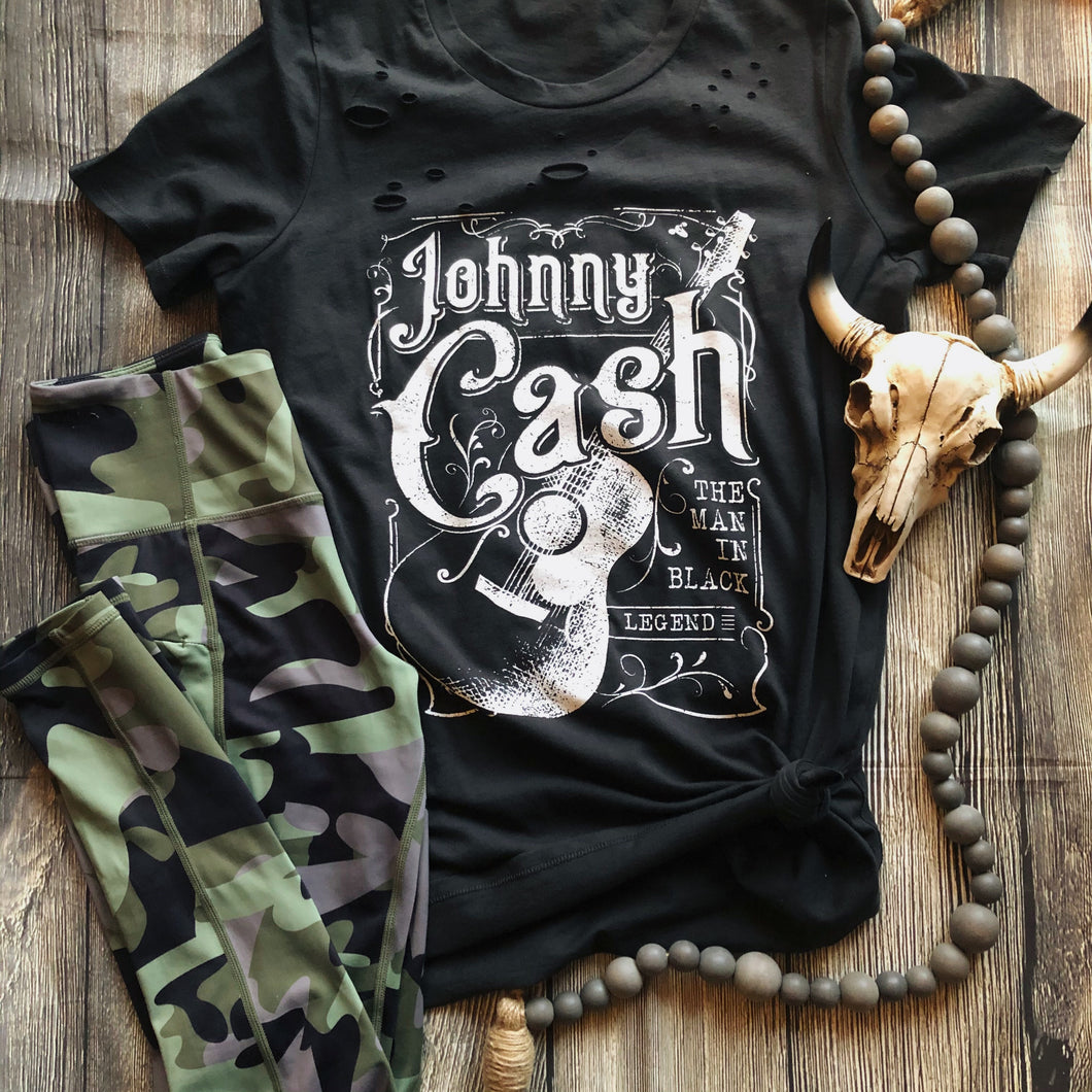 Johnny Cash Distressed Tee