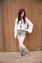 Olive Green Cutoff Shorts