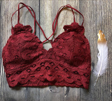 Sneak Peek Bralette - Maroon