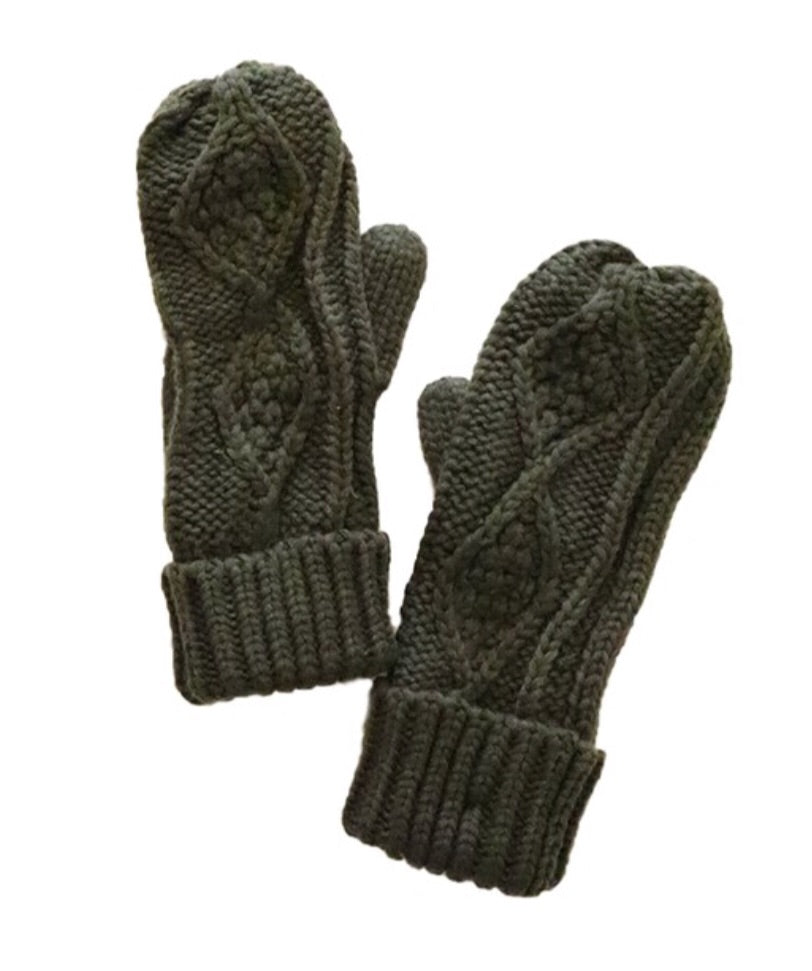 Olive Green Mittens