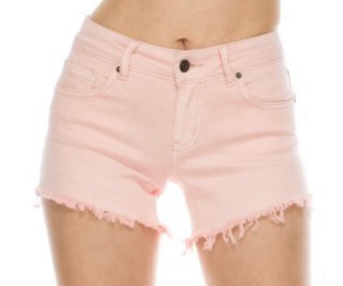 Light Pink Cutoff Shorts
