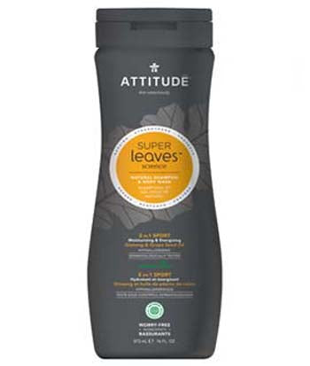 Attitude Men 2-in-1 Shampoo & Body Sport, 473 ml