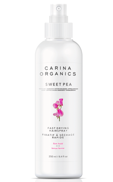 Carina Organics Sweet Pea Fast Drying Hairspray, 250 ml