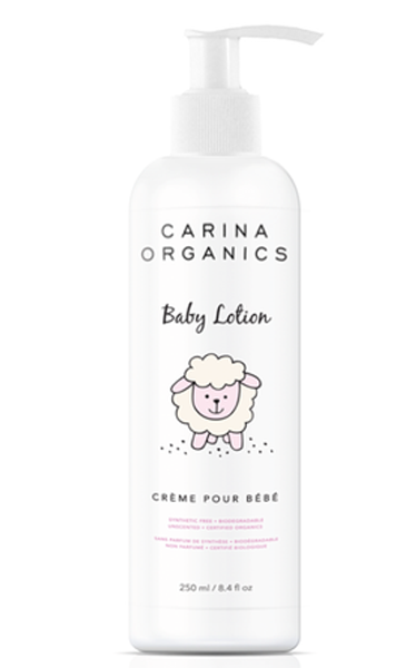 Carina Organics Unscented Baby Lotion, 250 ml