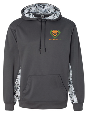 Badger - Youth Digital Camo Colorblock Performance Fleece Hooded Sweatshirt - 2464