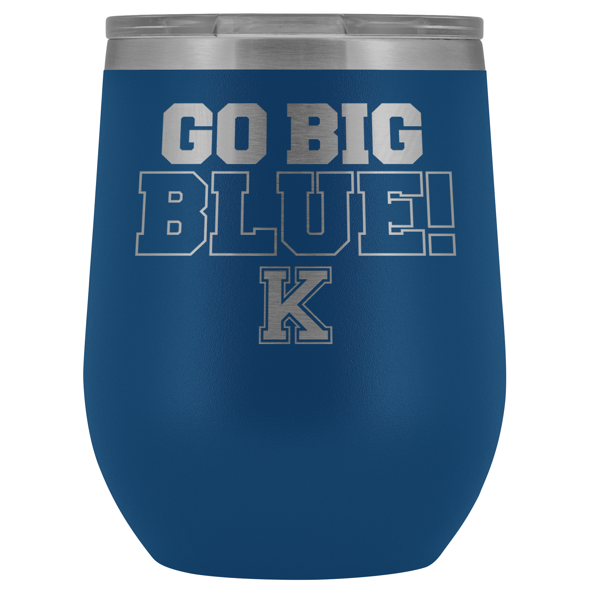Go Big BLUE! (Wine Tumbler)