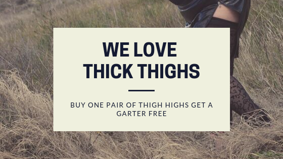 Buy One Pair of Thigh Highs Get a Garter Free