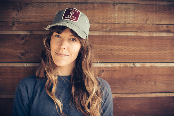 Trans Pecos | Defend West Texas - Olive Worn Hat