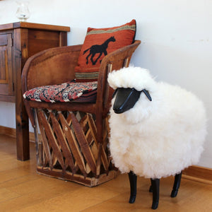 Life-size Sheep Fleece Footstool | MEDIUM | BLACK