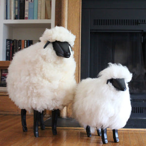 Life-size Sheep Fleece Footstool - SMALL