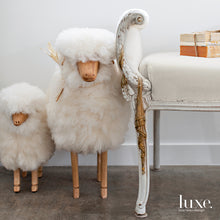 Life-size Sheep Fleece Footstool | SMALL | NATURAL