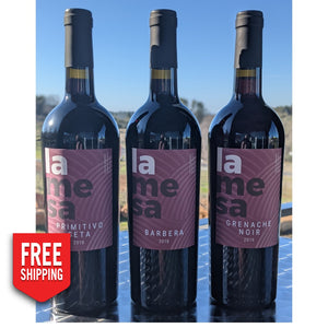 La Mesa Signature Estate Sampler 3 Pack Red - Free Shipping Wine