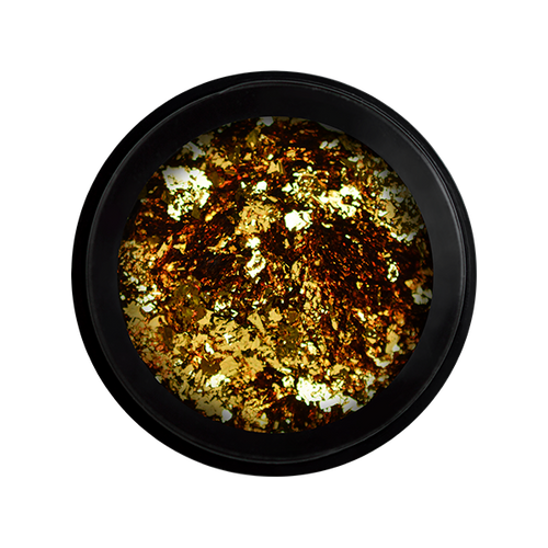 Metal Chrome Flakes Gold - Irish Perfect Nails