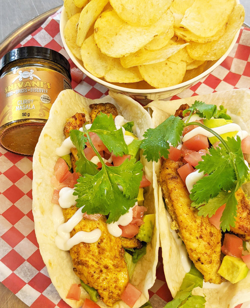 Chicken Tacos with Shivani's Curry Masala Spice