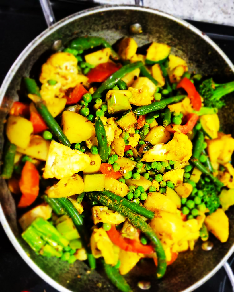 Mixed Vegetable Stir Fry with Shivani's Curry and Garam Masala Spice