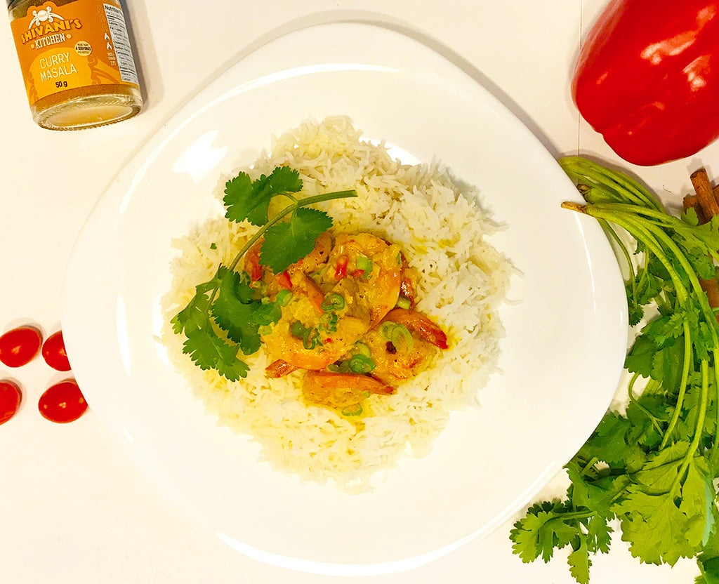 Curry Shrimp with Shivani's Curry Masala Spice