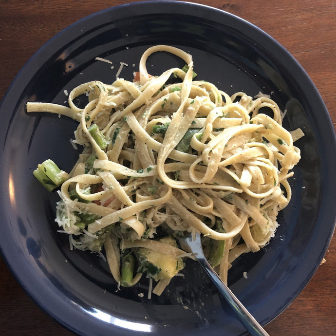 Fettucinne with Veggies and Garam Masala