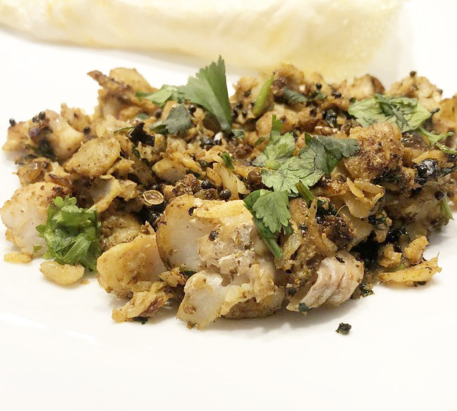 Scrambled Haddock with Shivani's Vindaloo Masala Spice