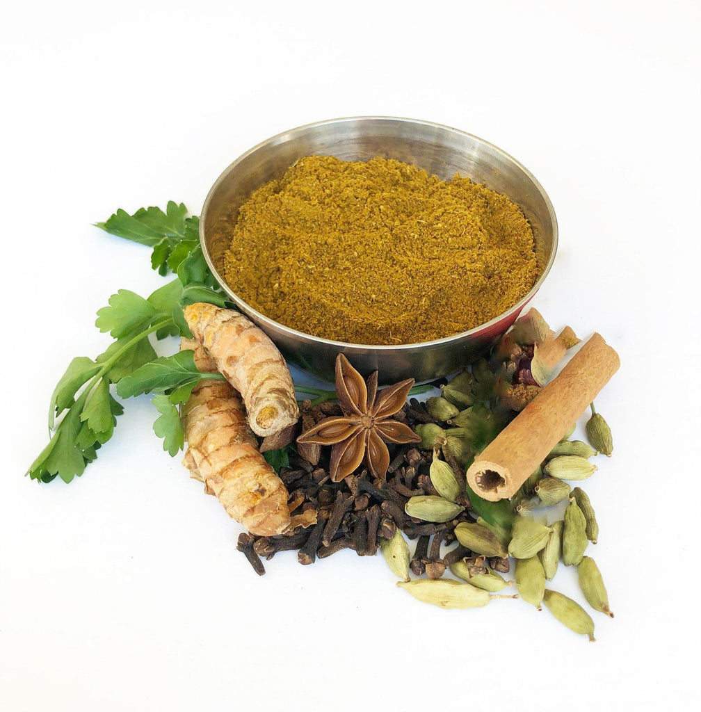 20 g Butter Chicken Masala Spice Blend shipped in a plastic sleeve