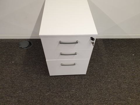 Under Desk Mobile Pedestal, 3 drawers