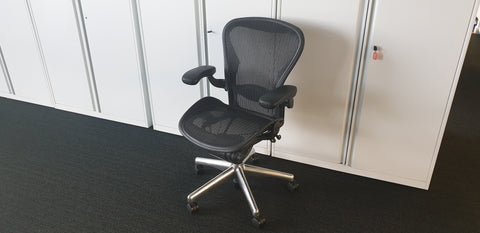 Aeron task chair size B without Lumbar - Milton Keynes