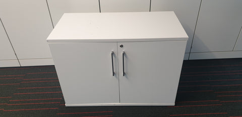 High quality white desk high cabinet without shelf - Milton Keynes