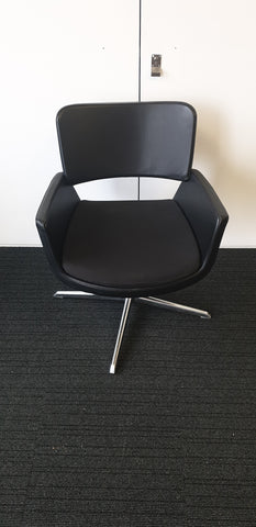 CONNECTION swivel chairs black with black seat  - Milton Keynes