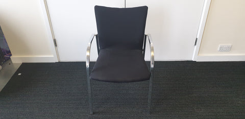 High quality meeting room chairs black with chrome frame - Milton Keynes
