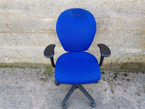 Senator Torasen Fully Adjustable Task Chair in Blue Upholstery with Castors