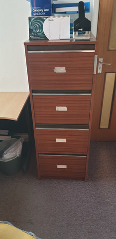 4 drawer wooden filing cabinet Bedford