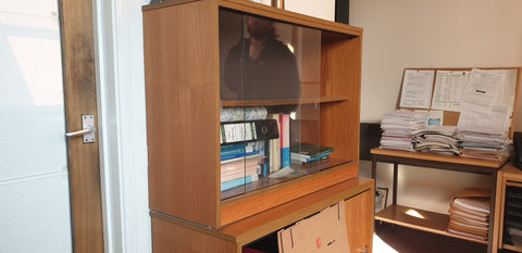 Glass fronted cabinet Bedford
