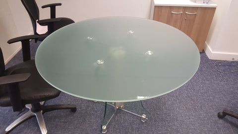 Glass Circular Meeting Table