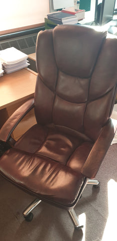 Rustic leather task chair executive Bedford