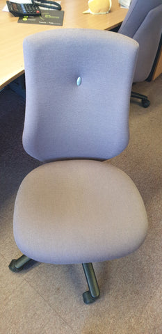 Purple task chair without arms Bedford