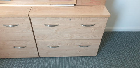 2 drawer side filing cabinet Bedford