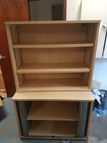 Tambour bookcase in maple
