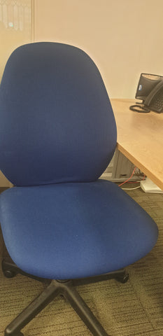 Blue task chair without arms Bedford
