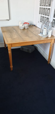 Large meeting table beautiful table with black inlay