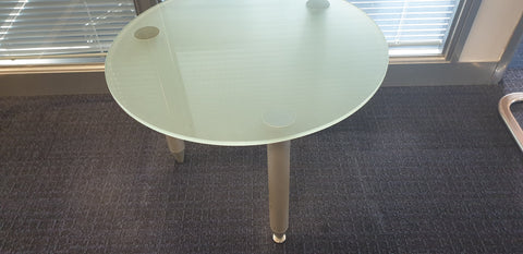 Glass coffee table 600mmDia