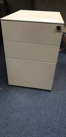 Silver Mobile 3 Drawer Pedestal
