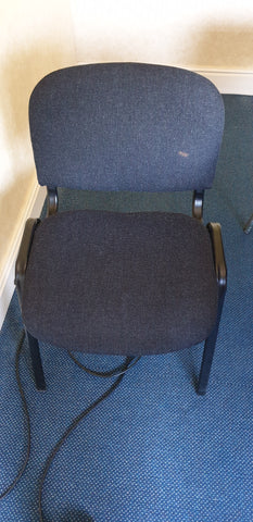 Black meeting room chairs stackable