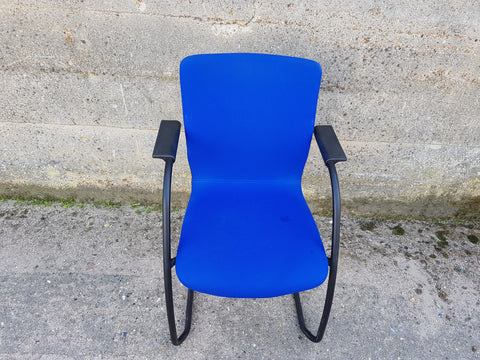 Orangebox GO Blue Fabric Office Meeting Chairs