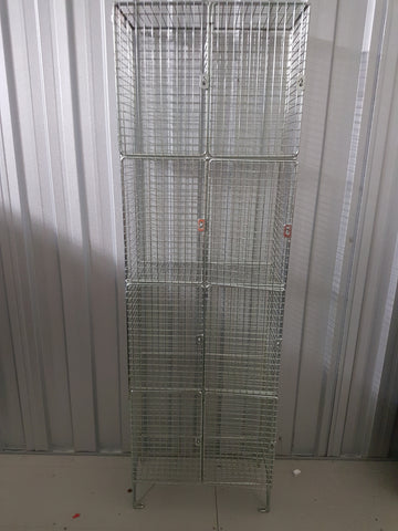 Ex Building Site Wire Cage Lockers, PPE Cages 4x2