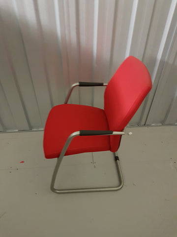 Connection Seating Red Fabric Office Meeting Chair