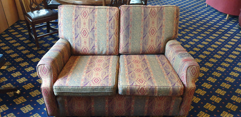 1980'S 2 SEATER SOFA - COMFORTABLE AND IN GOOD CONDITION