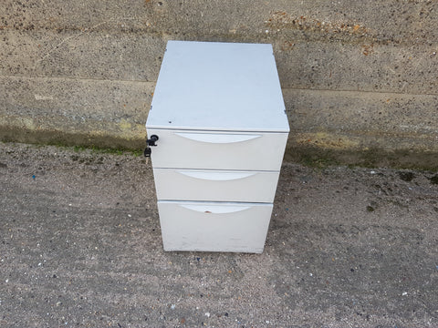 3 Drawer Lockable, Steel Pedestal, Lockable with Key