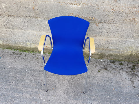 Seating Blue Fabric Office Meeting Chair