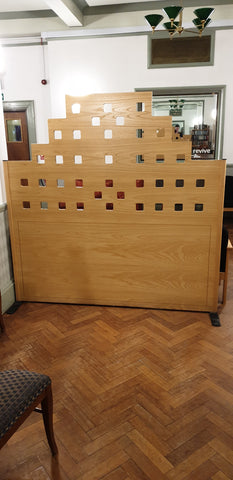 Room dividers - Maple finish with square cut out design **OTHER SIZES AVAILABLE**