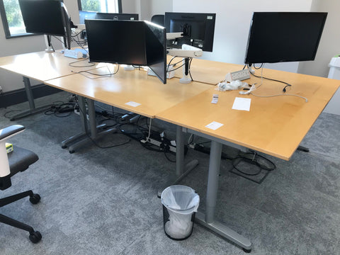 Single Desks 1200W x 800D Square corners